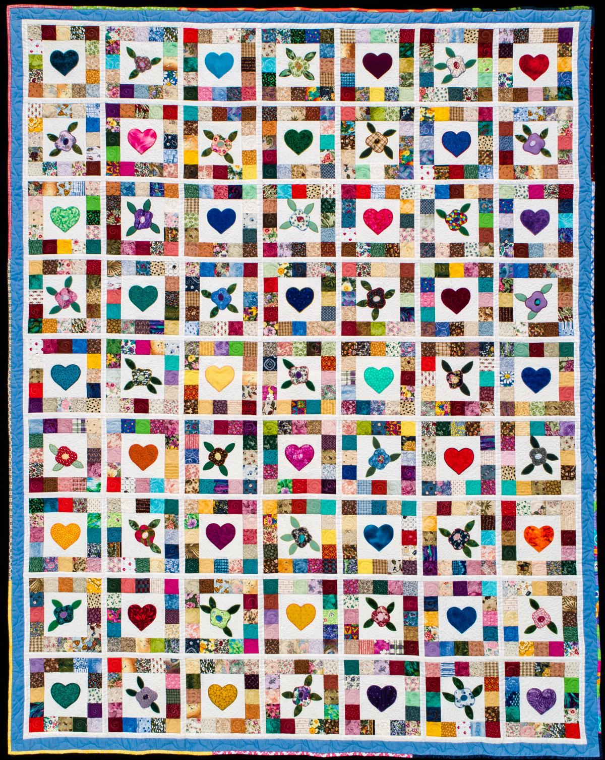 2019 Opportunity Quilt Hearts and Flowers