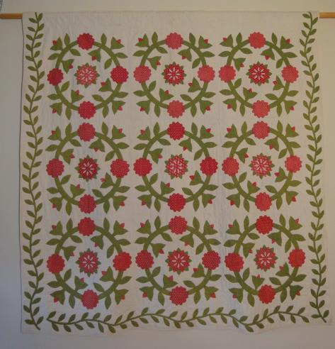 19th Century--Rose Wreath Quilt